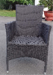 Stacking rattan chair street furniture