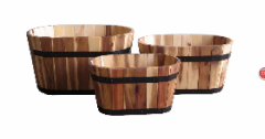 Solid wood planter for garden product
