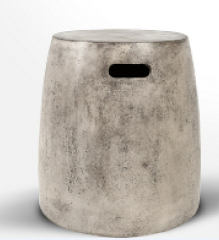 Light fiber concrete stool outdoor furniture