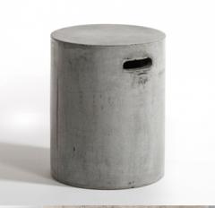 Side table fiber cement outdoor furniture