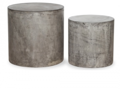 Side table concrete outdoor furniture
