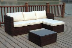 High quality PVC poly rattan sofa garden set
