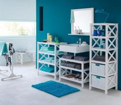 High quality solid bathroom furniture tall cabinet single rack