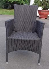 High quality PVC poly rattan stacking chair