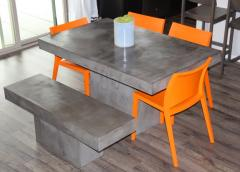 Fiber Cement concrete table set
