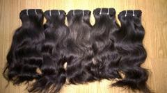 Curly weft 100% human natural color Vietnamese hair