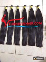 Normal double natural bulk hair 100% virgin hair