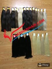 Various color bulk hair virgin and soft Vietnamese hair