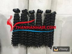 Normal double steam curly weft 100% natural Vietnamese hair.