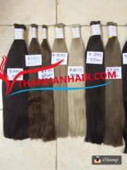 Various color straight bulk hair virgin and remy Vietnamese hair