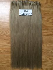 Normal double color weft straight weft hair from Vietnamese woman hair