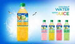 Coconut Water With Peach Juice 500ml Pet Bottle