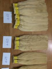 More blonde straight bulk hair Vietnamese hair