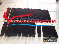 Virgin Vietnamese weft hair remy and soft hair