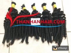 Remy hair curly hair Steam bulk hair extensions