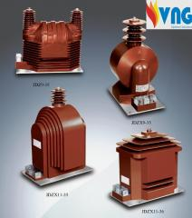 Dry voltage transformers