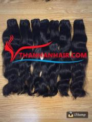 Natural straight human hair weft smooth silky hair
