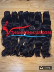 Natural straight human hair weft smooth silky hair