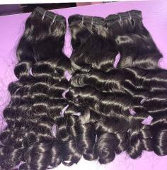 Large Stocks!!! Cheap Weft Human Hair, No Tangle, No Shedding High