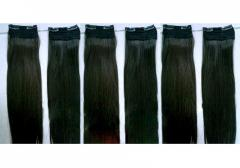 Tape color straight hair