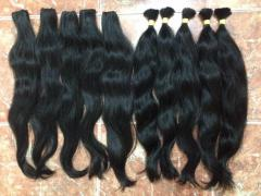 Natural weft wavy color hair soft and silk hair extension