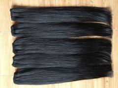 100% natural color weft hair 100% unprocessed soft straight human hair