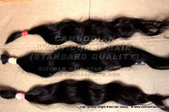 Cambodian Natural Wavy/Curly Hair 100% Remy Virgin Bulk Hair Wholesales Price Top Gold Supplier
