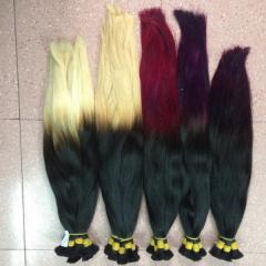 Selling promotion of hair and silk an ombre hair
