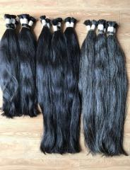 Selling natural gray hair best quality soft 100% human color hair