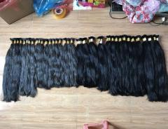 Selling natural gray color hair straight hair extension