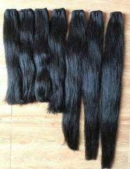 Weft straight hair no tangle 100% human hair