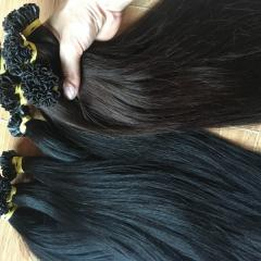 Hair Extension straight Utip #1B and #2 beautiful color remy human hair