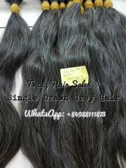 Single Drawn Grey Hair Wholesale Price