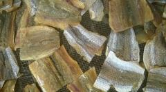 Dried salted lizard fish fillet