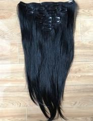 Clip in hair natural color human hair
