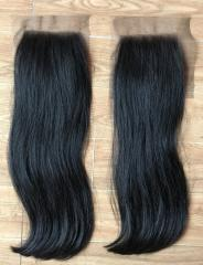 Natural color lace closure hair extension