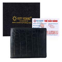 Bóp nam Huy Hoàng da cá sấu gai bụng màu đen
