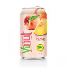 330ml Canned Fruit Juice Peach Juice Drink
