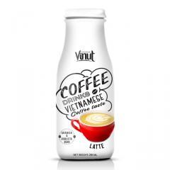 280ml Glass Bottle Latte coffee from Vietnam