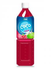 100 PET Bottle Pure Coconut water with raspberry flavour Suppliers Vietnam