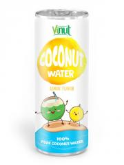 250ml Aluminium can Natural Coconut water Lemon flavour