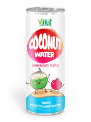 250ml Aluminium can Natural Coconut water Pomegranate flavour