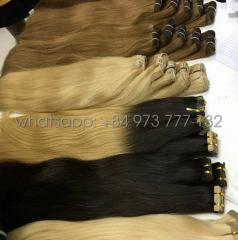 26 inches brown Vietnamese wavy weft in human hair extensions