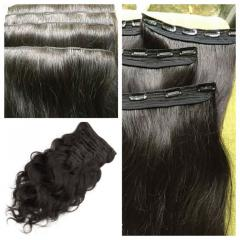 20 inches straight clip in hair extensions high quality