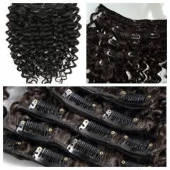 18 inches kinky curly clip in hair no shedding