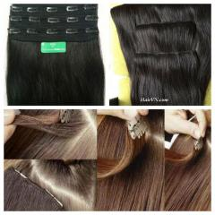 22 inches body wave clip in hair no shedding