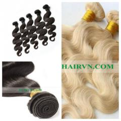 Vietnamese color weft human hair extensions 14 inches