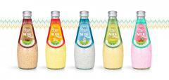 Juice Packaging Design Basil Seed Milk 290ml from RITA beverage