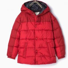 Quilting fake down boy jacket