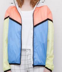 Mess body lining girls fashion light jacket
